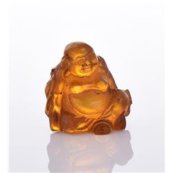 Carved Resin Mixed Amber Buddha.