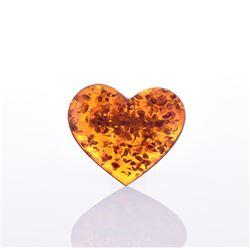 Baltic Amber Heart Brooch