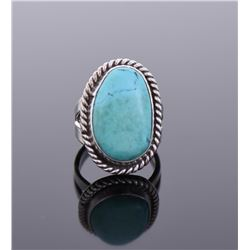 South West Blue Turquoise Sterling Silver