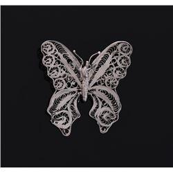 Filigree Butterfly Brooch.