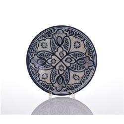 Moroccan Safi Ceramic Plate.