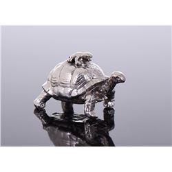 Frog On Turtle Figurine 0.59 oz