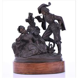 Antique French Bronze Depicting A Musketeer