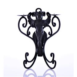 Victorian Cast Iron Candle Wall Mount.