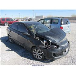 2012 - HYUNDAI ACCENT // REBUILT SALVAGE