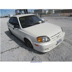 2003 - HYUNDAI ACCENT // REBUILT SALVAGE