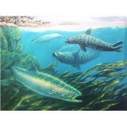 "Bruce Muir Original Artwork ""Seals Their Fate"""