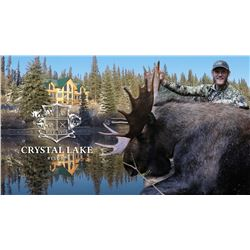 Crystal Lake Resort EIGHT Day Any Bull Moose Hunt forTWO hunters