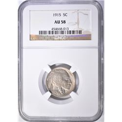 1915 BUFFALO NICKEL, NGC AU-58