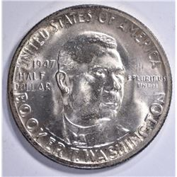 1947 BOOKER T. WASHINGTON COMMEM HALF GEM BU