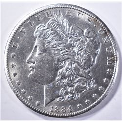 1884-CC MORGAN DOLLAR, CH BU