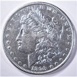 1898-S MORGAN DOLLAR, AU/BU