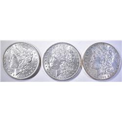 1896, 97 & 98 CH BU MORGAN DOLLARS