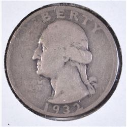 1932-S WASHINGTON QUARTER VG