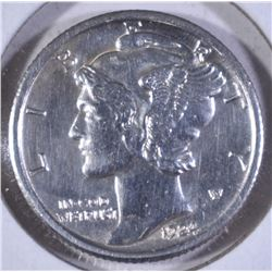 1924-S MERCURY DIME BU CLEANED