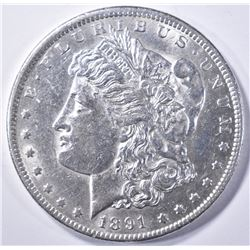 1891-CC MORGAN DOLLAR  AU/BU
