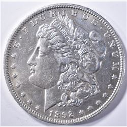 1892-O MORGAN DOLLAR  AU/BU