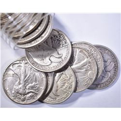 14-WALKING LIBERTY HALF DOLLARS: