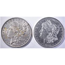 1885-O CH BU & 1904 AU/BU MORGAN DOLLARS