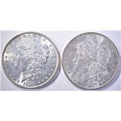 2-1887 MORGAN DOLLARS, CH BU