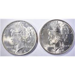 2-1924 CH BU PEACE DOLLARS
