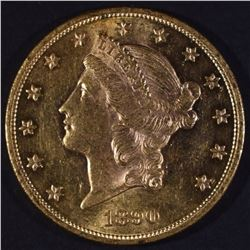 1890 $20 GOLD LIBERTY CH BU VERY SCARCE
