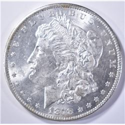 1878 7TF MORGAN DOLLAR CH BU NICE