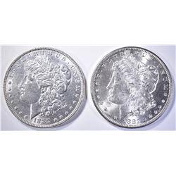1882-S & 1887 MORGAN DOLLARS