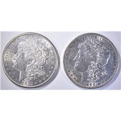 1890-S AU & 1921-S CH BU + MORGANS