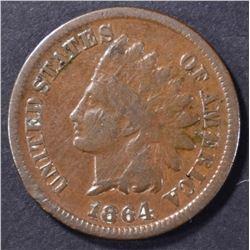 "1864 INDIAN HEAD ""L"" FINE"