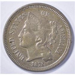 1872 NICKEL THREE-CENT NICKEL  AU