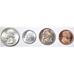 1950-D COINS: CENT, NICKEL, DIME,