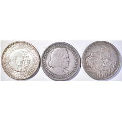 LOT OF 3 HALF DOLLARS:  1952 WASHINGTON/