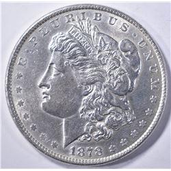 1878 8 TF MORGAN DOLLAR AU/BU