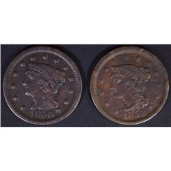 1850 VF & 1853 AU Some Rim Issues