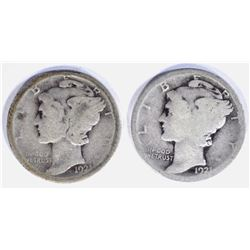 2-1921 MERCURY DIMES, GOOD