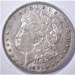 1891-O MORGAN DOLLAR, CH BU NICE!