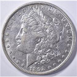 1892-O MORGAN DOLLAR, CH AU++
