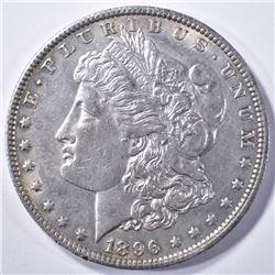 1896-O MORGAN DOLLAR, CH BU