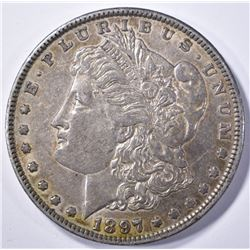 1897-O MORGAN DOLLAR, ORIGINAL AU