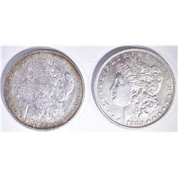 1878 7TF MORGAN DOLLAR F AU & 1880-O