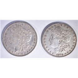 (2) 1879 MORGAN DOLLARS AU