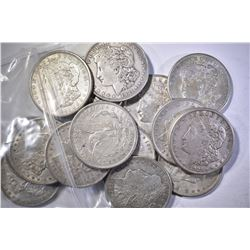 (16) 1921 AU MORGAN DOLLARS