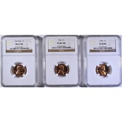 NGC GRADED LINCOLN CENT LOT: