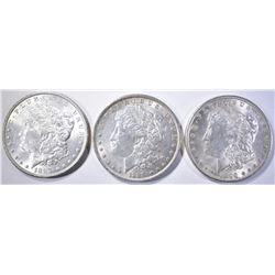 1887, 89 & 96 CH BU MORGAN DOLLARS