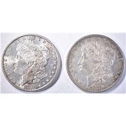 1879 AU/BU & 90 BU MORGAN DOLLARS
