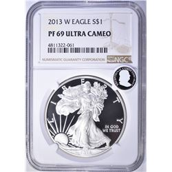 2013-W AMERICAN SILVER EAGLE, NGC PF69 ULTRA CAMEO