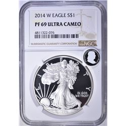 2014-W AMERICAN SILVER EAGLE, NGC PF69 ULTRA CAMEO