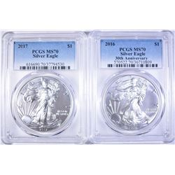 2016 30th Anniversary  & 17 AMERICAN SILVER EAGLES