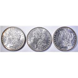 1882-O, 97 & 1900 CH BU MORGAN DOLLARS